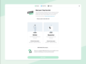 Brainly Plus Free trial or subscription page