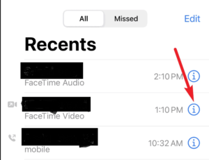 Facetime iPhone Audio Call Logs