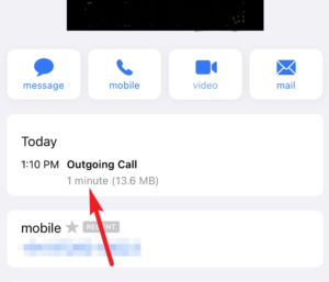 Facetime check all video and audio call duration Screen