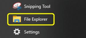 File Explorer Windows 10 Screen