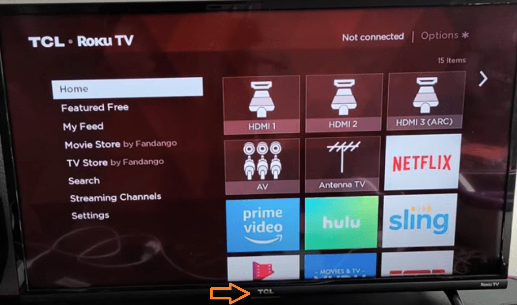 Power Button Image for TCL Rogu TV