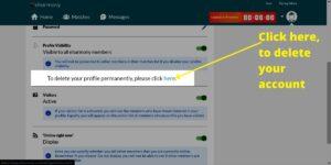 To Delete eHarmony Account Profile Link
