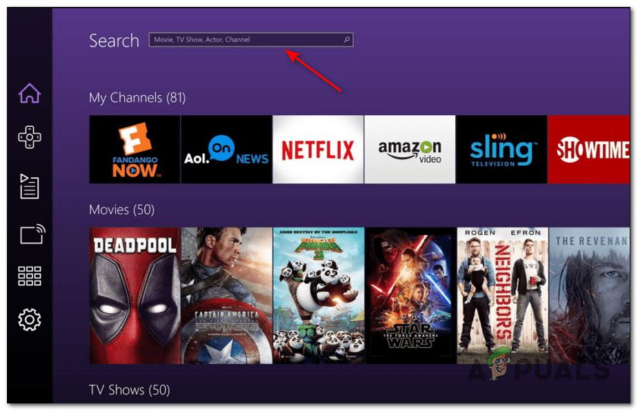 TNT App Home Screen