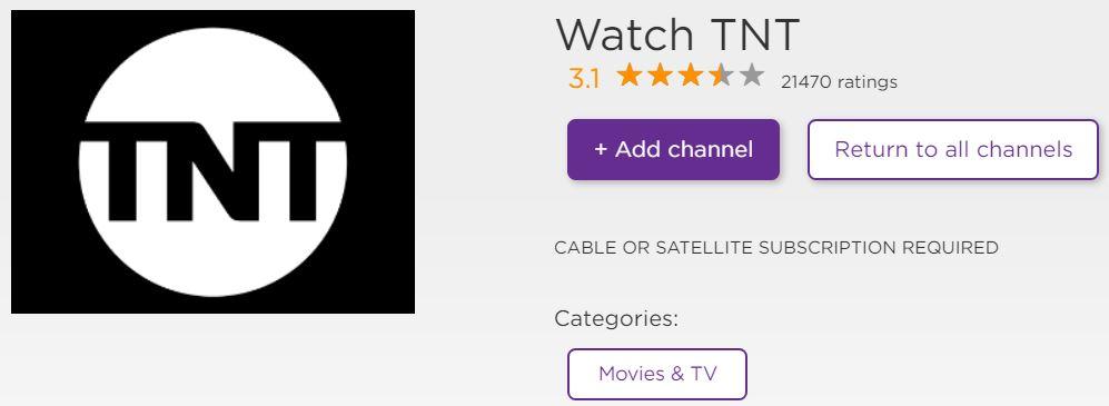 TNT App installation Screen