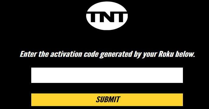 TNT.com Activation Code Screen