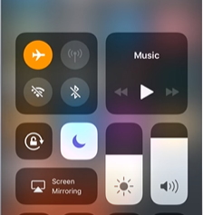 iPhone Trun Off Airplane Mode option Screen